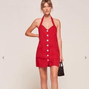 Reformation red Bardot dress